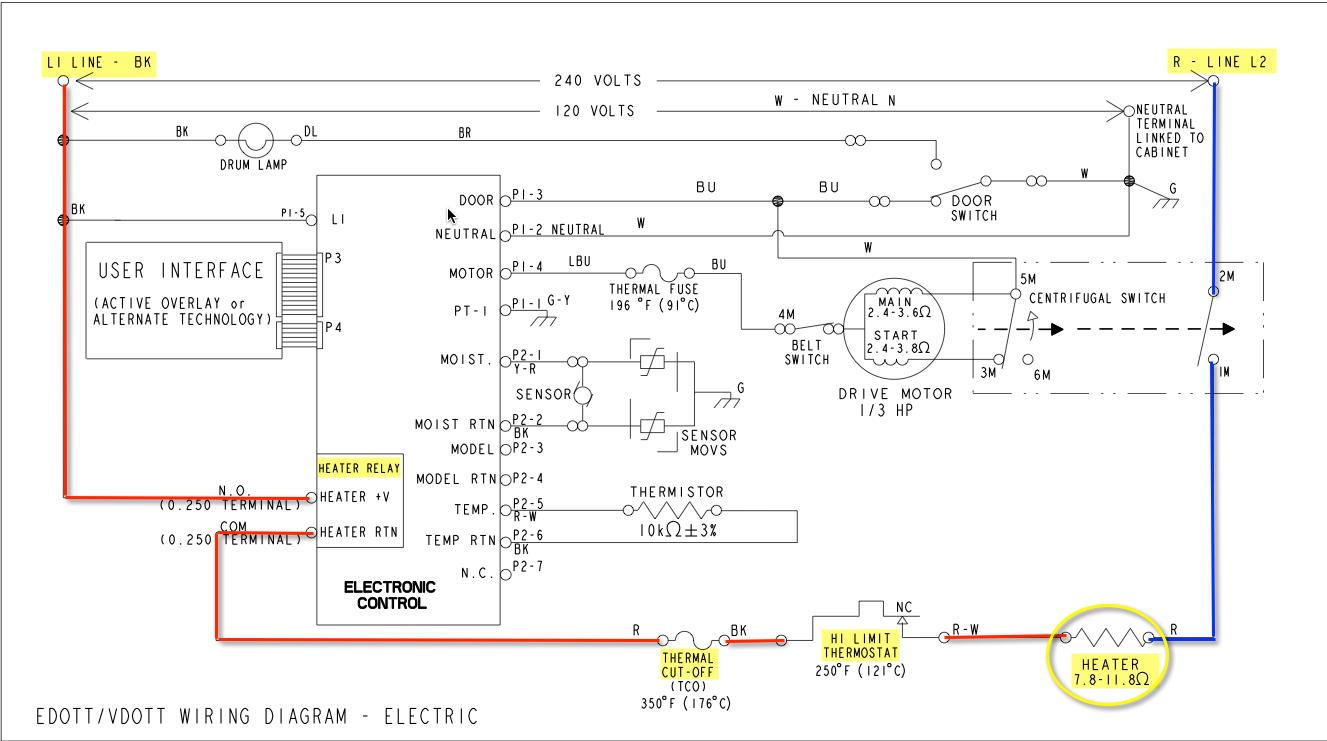 Whirpool Dryer Wiring Diagram - Wiring Diagram