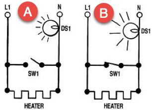 heater and bulb diagrams