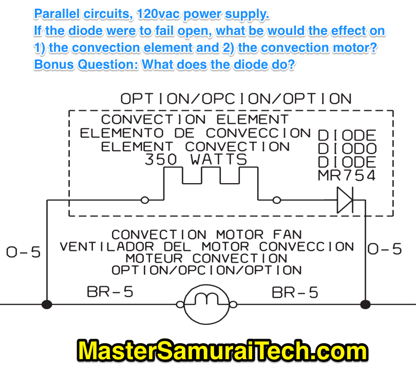 parallel circuits with a diode
