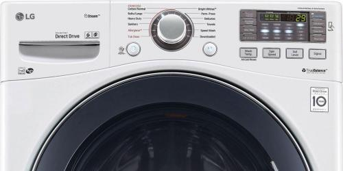 Front load washer electronic touchpad controls